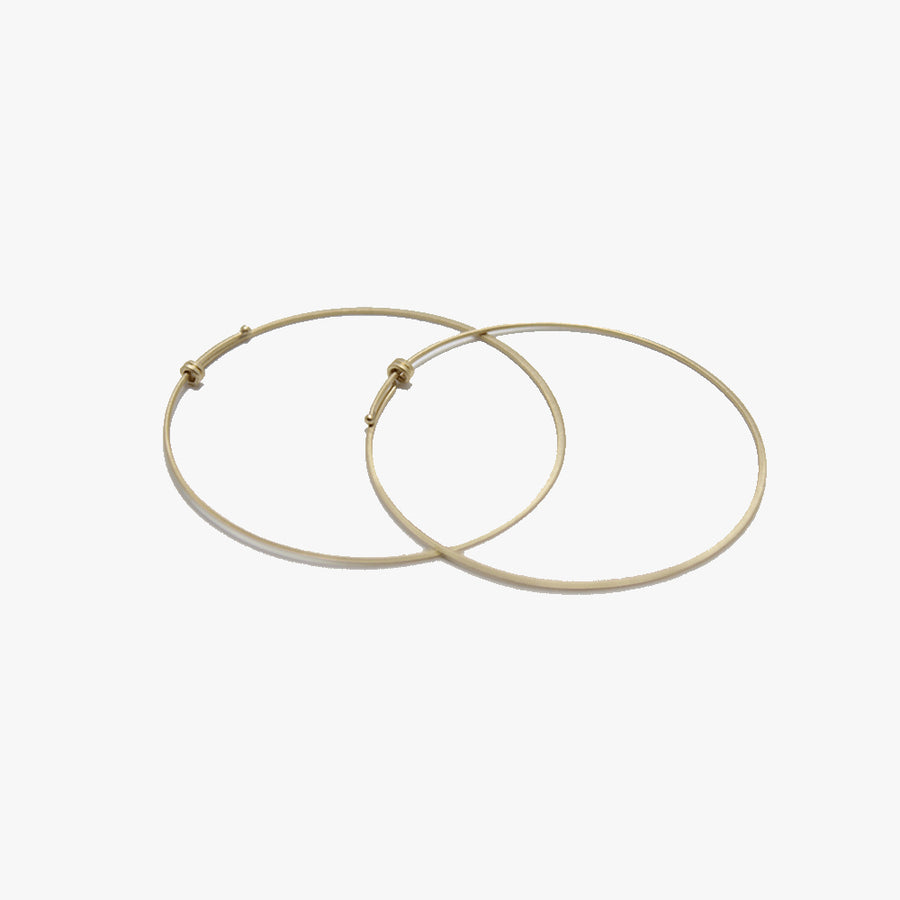 Carla Caruso 14k Gold Round Hoops
