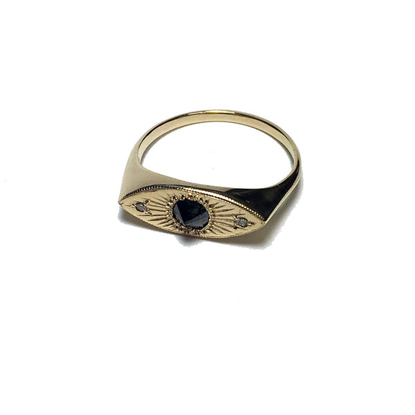 Fiat Lux Black Diamond Eye Ring