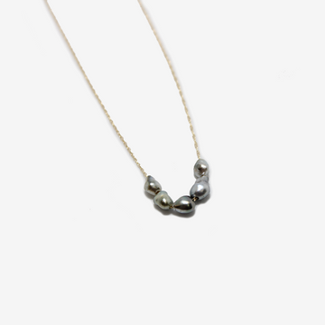 Petite Baleine 5 Mini Tahitian Pearl 14k gold necklace