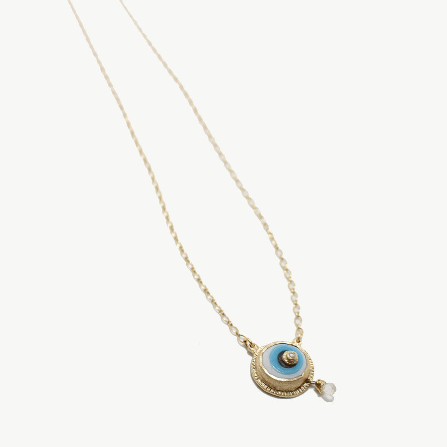 Franny E 14k Gold Eye of Meaning Necklace