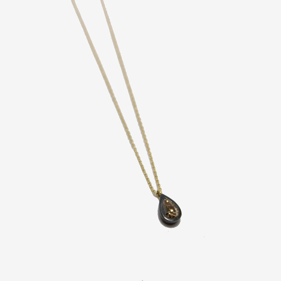 Gasia Brown Diamond Teardrop Necklace