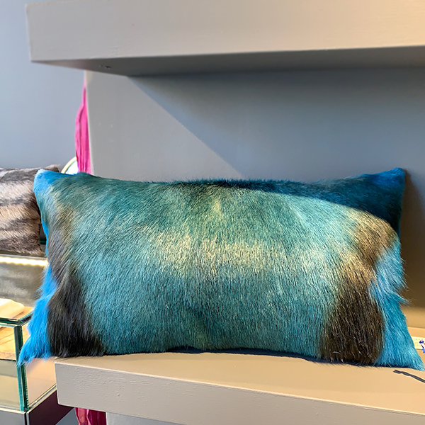 Blue Springbok Pillow
