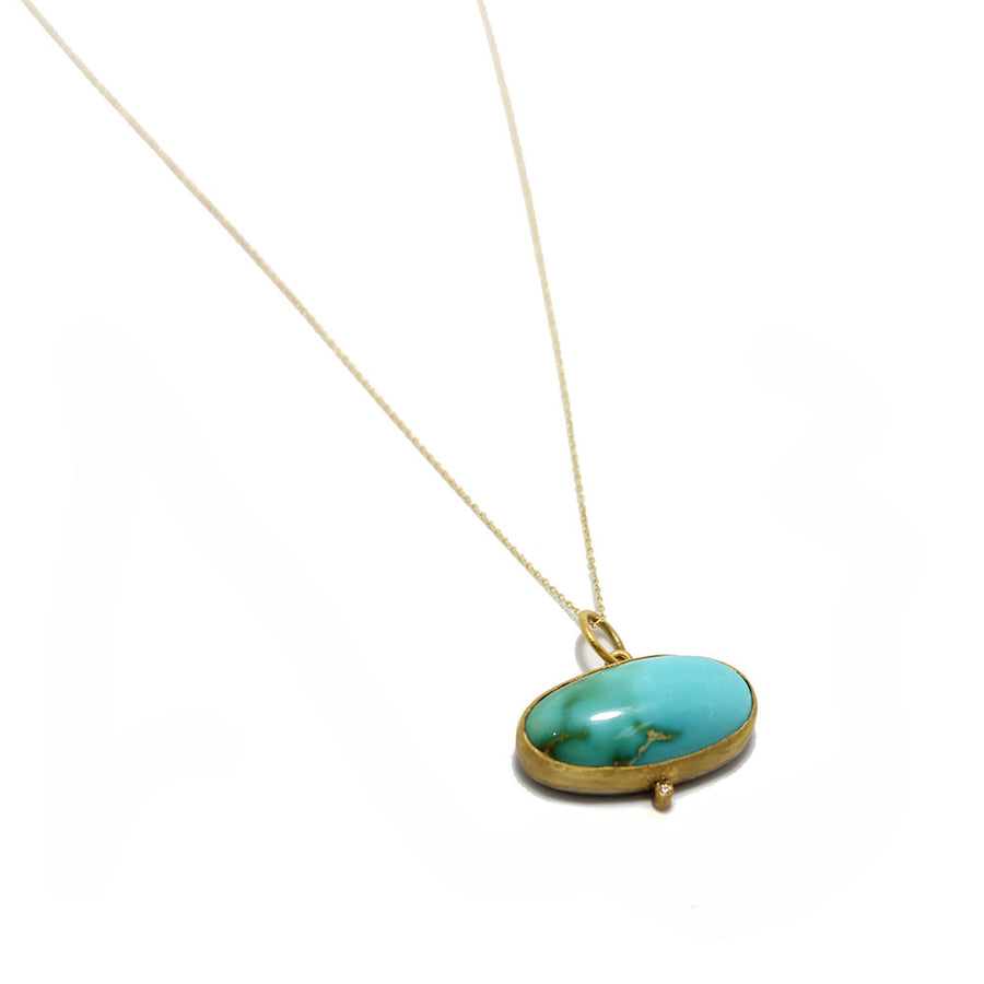 24k Large Persian Turquoise Necklace