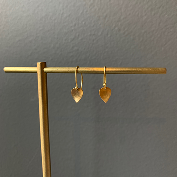 Gem Token 18k Gold Leaf Earrings