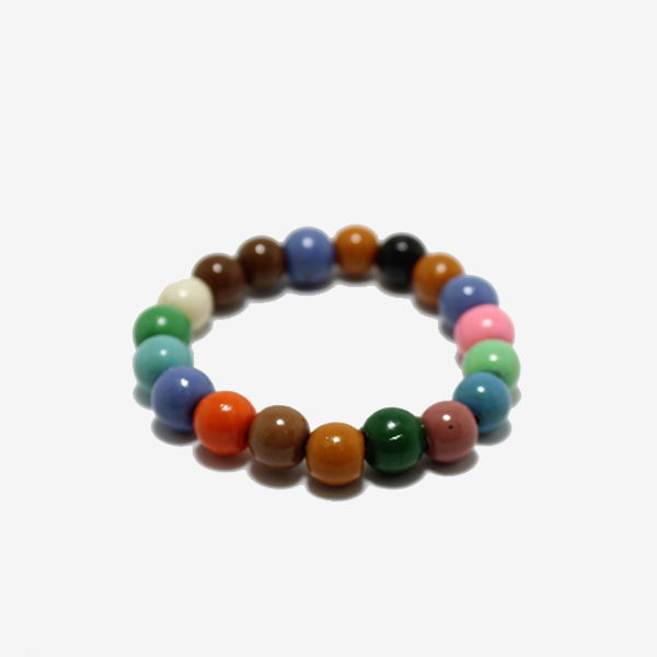 Gem Token Colorful Beads Bracelet