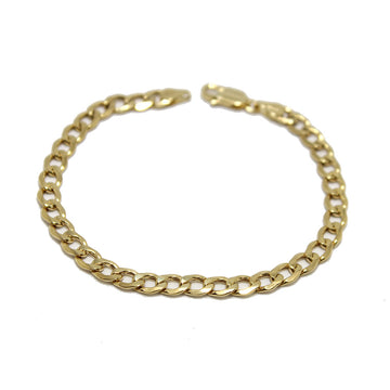 Gem Token 10k Curb Chain Bracelet