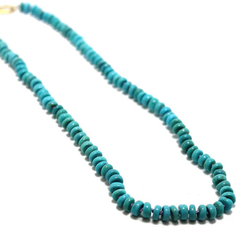 Gem Token 18k Hand-knotted Turquoise Necklace