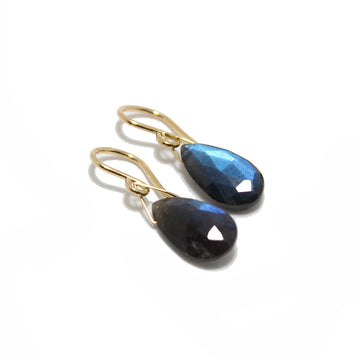Gem Token Labradorite Teardrop Earrings