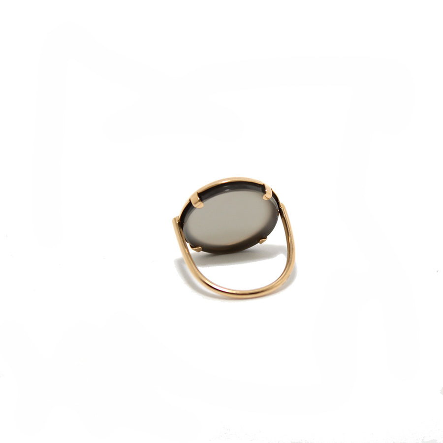 Ginette NY 18k Moonstone Disc Ring