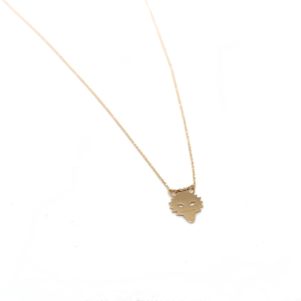 Ginette NY 18k Wolf Necklace