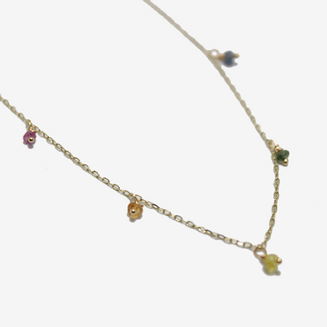 Gjenmi 14k Rainbow Shaker Necklace