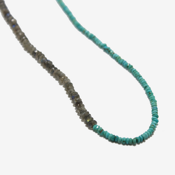 Gem Token Labradorite + Turquoise Necklace