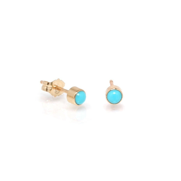 Zoe Chicco 14k Turquoise Studs