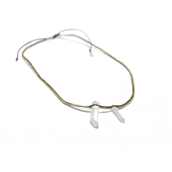 Jaclyn Mayer Silver Crystal Necklace