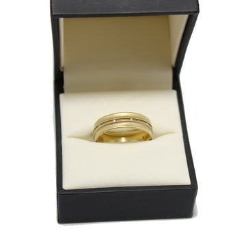 Jennifer Dawes 18k Gold Wide Diamond Eternity Band