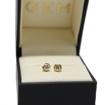 Justin Brown 14k Diamond Earrings