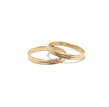 Justin Brown Jewelry 14k Gold + Diamond Band