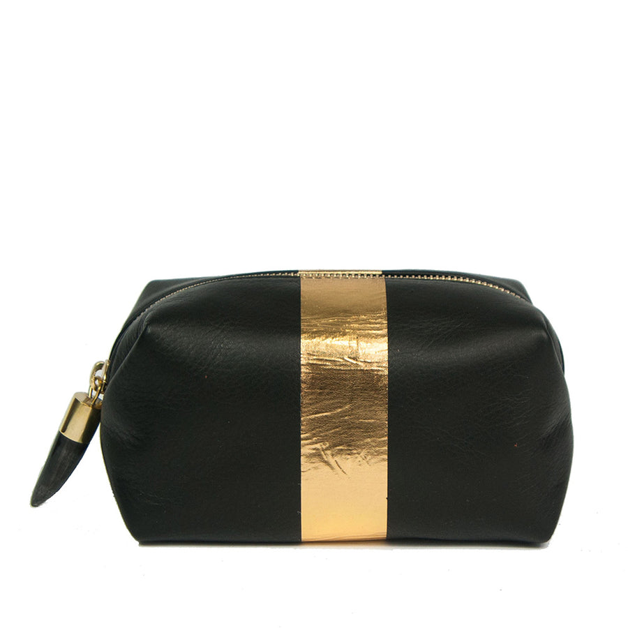 Kempton & Co. Black & Gold Cosmetic Case