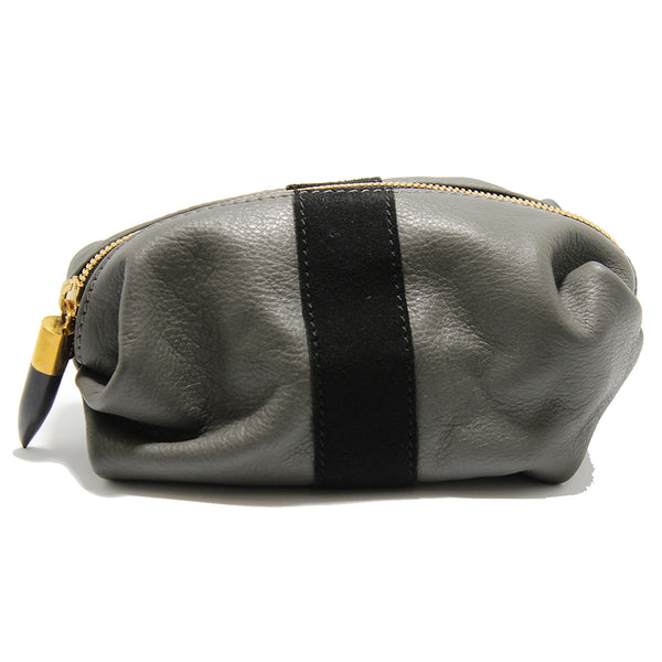 Kempton & Co. Grey & Black Cosmetic Case