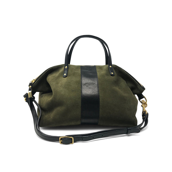 Kempton & Co Olive Suede Devon Holdall