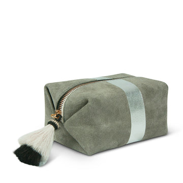 Kempton & Co. Grey & Silver Cosmetic Case