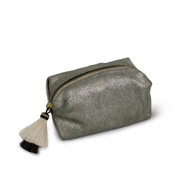 Kempton & Co. Metallic Suede Cosmetic Case