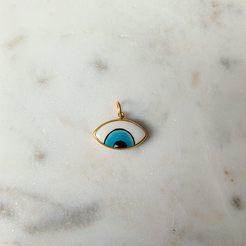 24k Gold Enamel Eye Charm