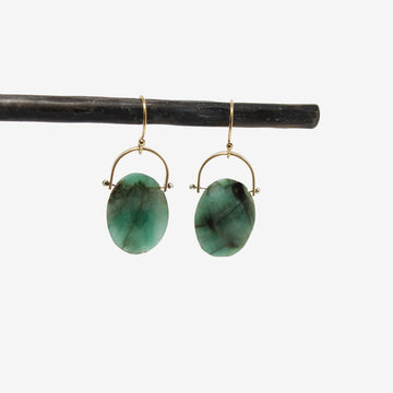 Lulu Designs Large Burnet Gemstone Earrings