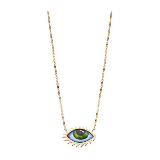 Lito Green Eyelash Necklace