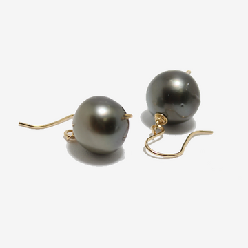 Gem Token Tahitian Pearl Earrings