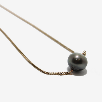 Gem Token Victorian Chain + Tahitian Pearl Necklace