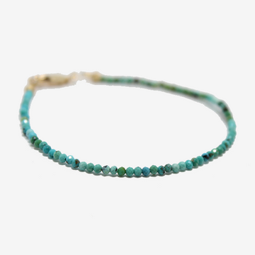 Gem Token Beaded Turquoise Bracelet