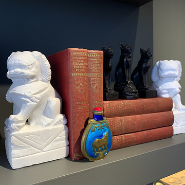 Marble Foo Dog Bookends