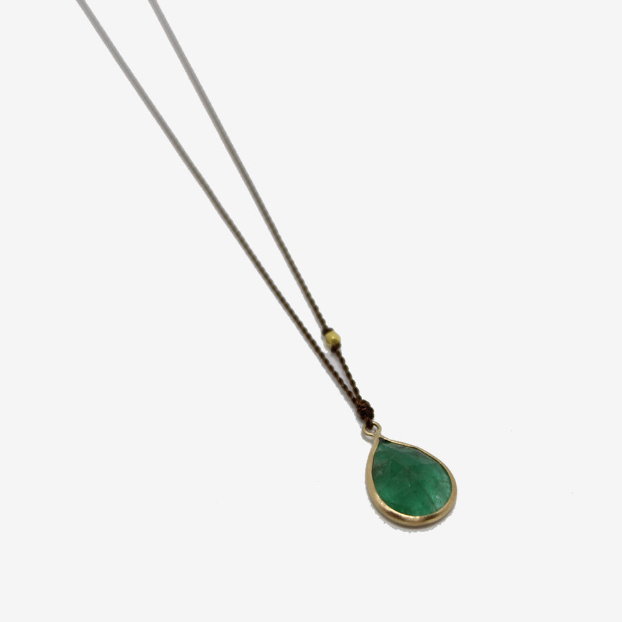 Margaret Solow 14k Emerald Necklace on a white background