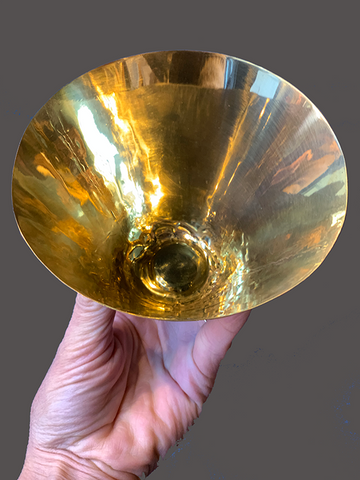 Thin Metal Conical Bowl