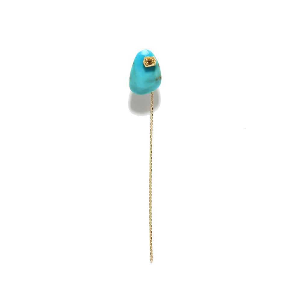 Monaka 18k Turquoise + Yellow Sapphire Single Earring