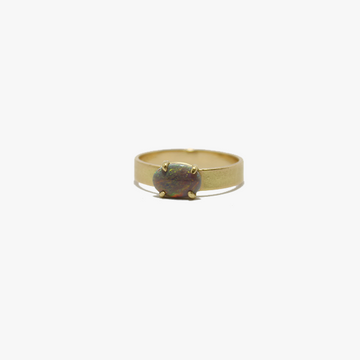 Petite Baleine Australian Opal 18k Gold Wide Belt Ring