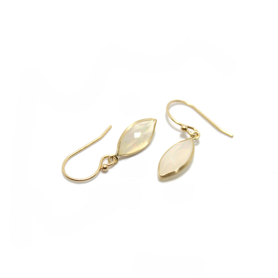 Gem Token 14k Opal Earrings