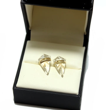 Page Sargisson 18k Quartz Kite Earrings