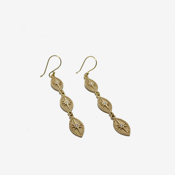 Pamela Zamore Triple Marquise Drop Earrings