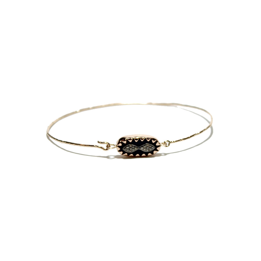 Pascale Monvoisin Bowie Horn Diamond Bracelet on a white background