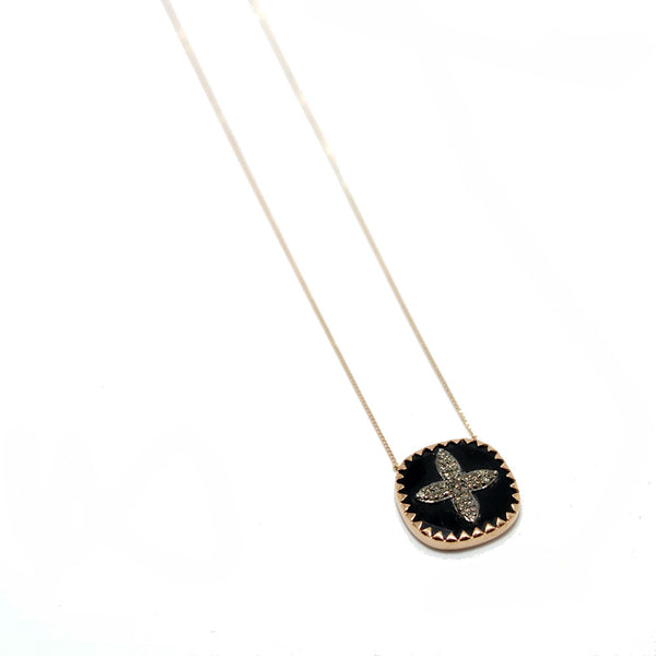 Pascale Monvoisin Black Bowie Diamond Necklace