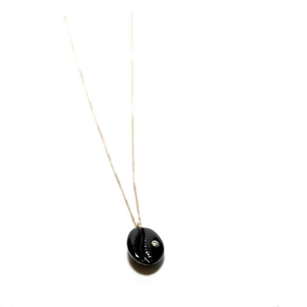 Pascale Monvoison Black Onyx Cauri Necklace