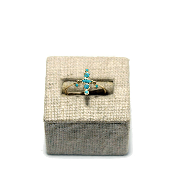 Pascale Monvoisin Nour No2 Turquoise Ring