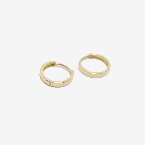 Petite Baleine 14k Gold 10mm Huggie Hoop Earrings
