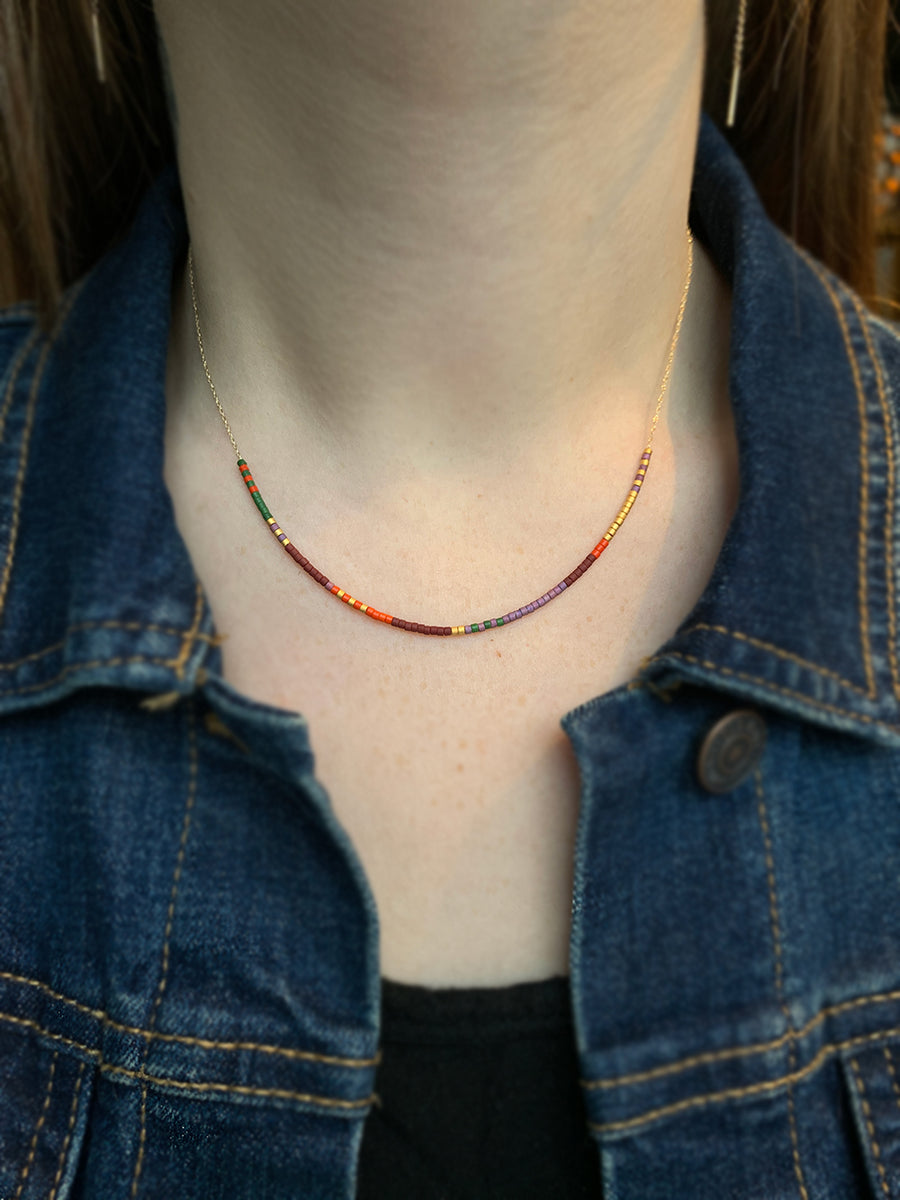Petite Baleine 14k Colorful Beads Necklace