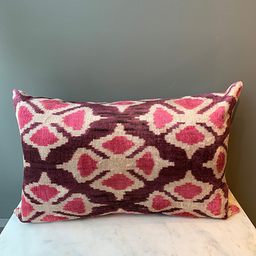 Pink Turkish Silk Kilim Pillow