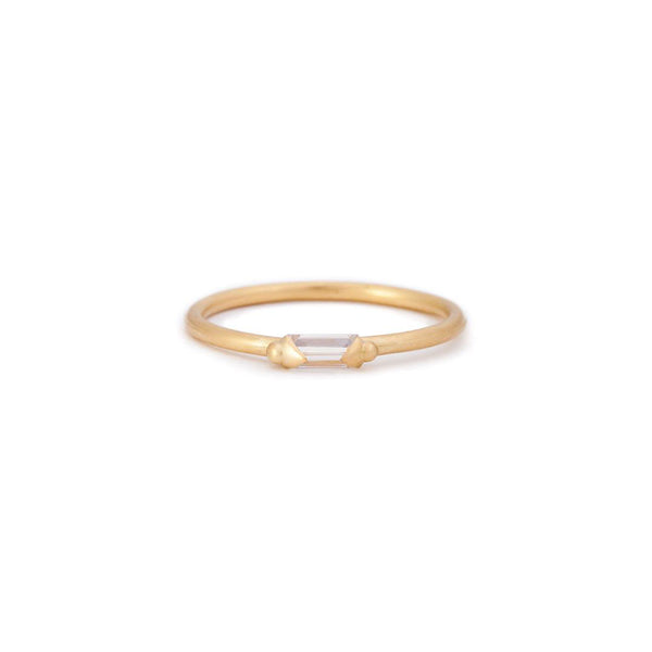 Polly Wales 18k Baguette Diamond Ring