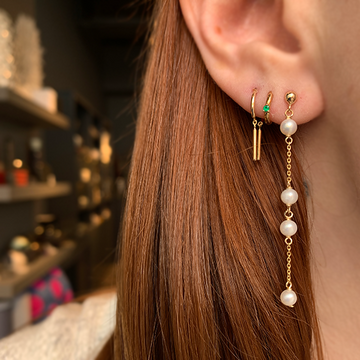 Poppy Finch Spaced Pearl Drop Earrings