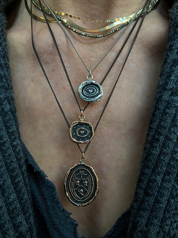 Pyrrha Longevity Happiness & Good Luck Talisman Necklace